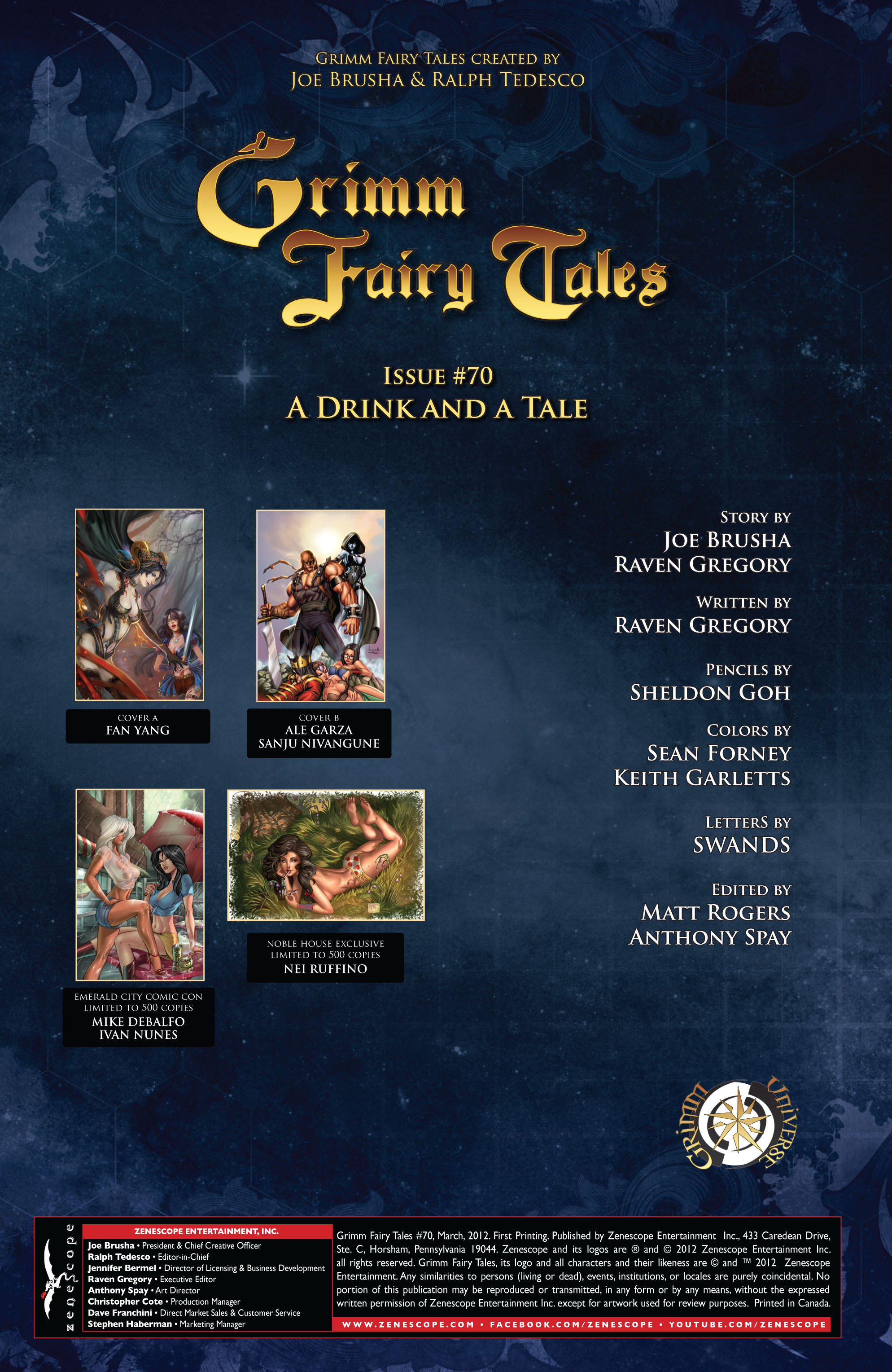 Grimm Fairy Tales (2005) Issue #70 #73 - English 2