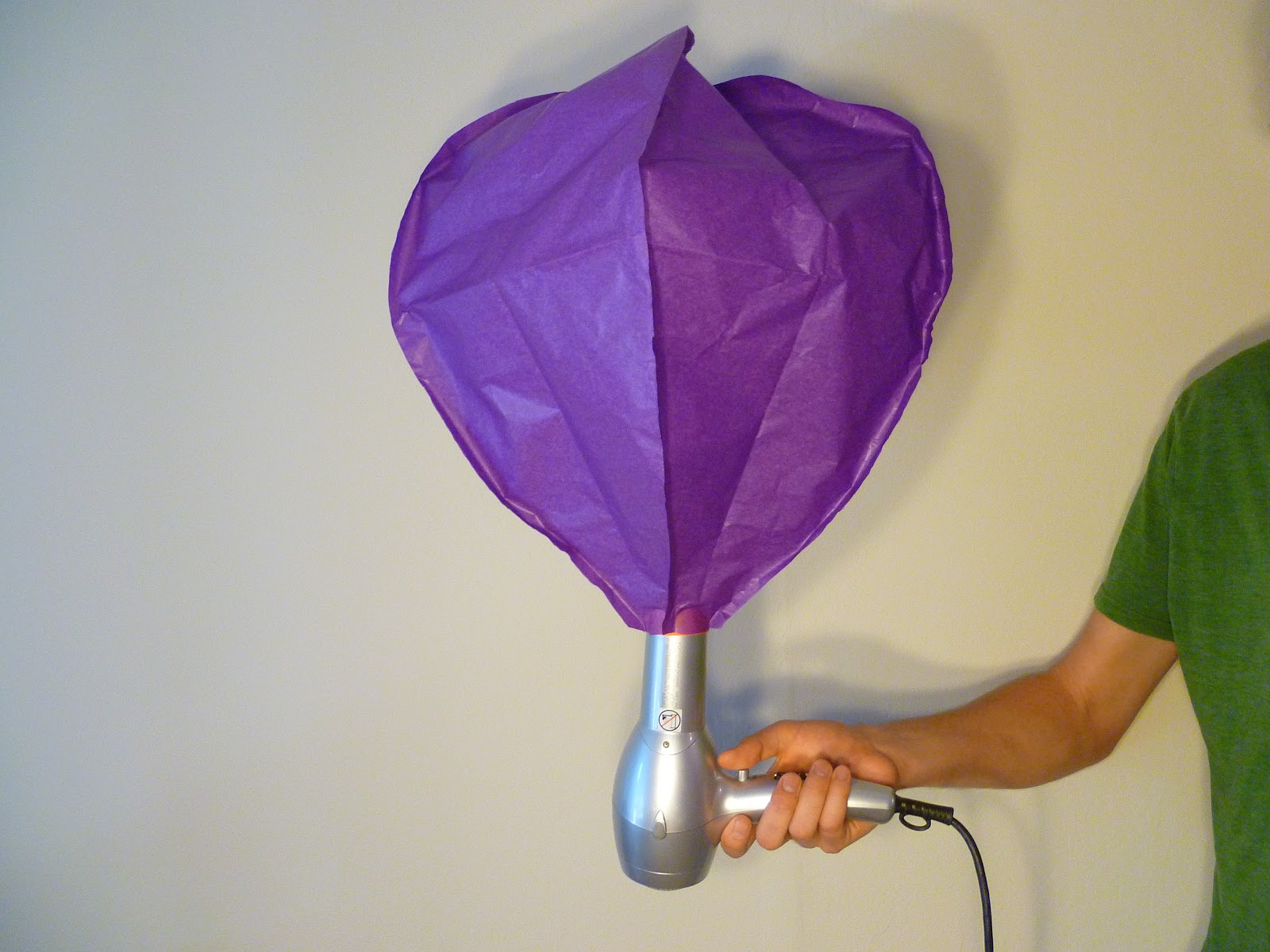 tissue paper hot air balloons