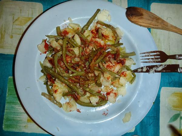 Judias verdes con patata huevo cocinar en casa es for Cocinar judias verdes de bote