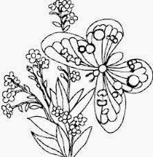 Mewarnai gambar bunga dan kupu-kupu untuk anak 7