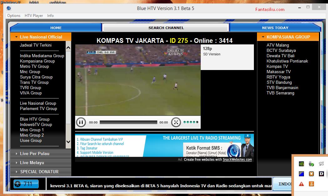 Download Software Streaming TV Tercepat Blue HTV 3.1 Beta 5