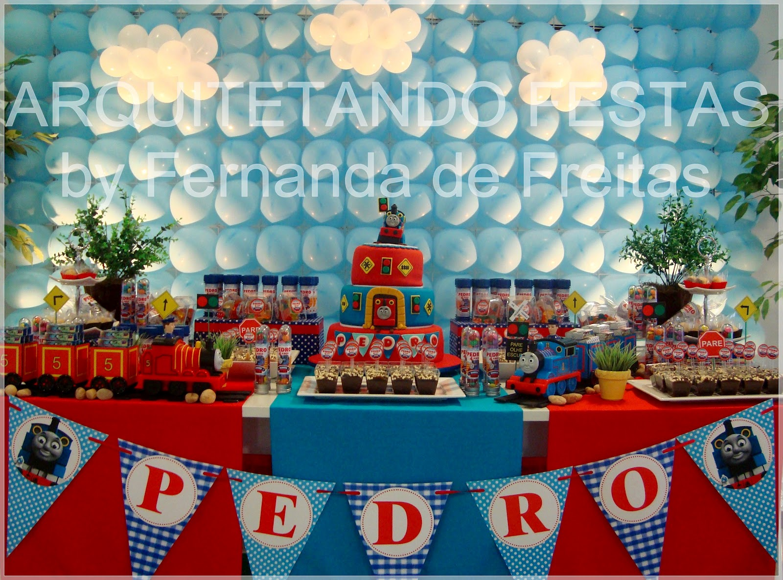 Arquitetando Festas Thomas e seus Amigos Pedro 4 anos  Mini Party
