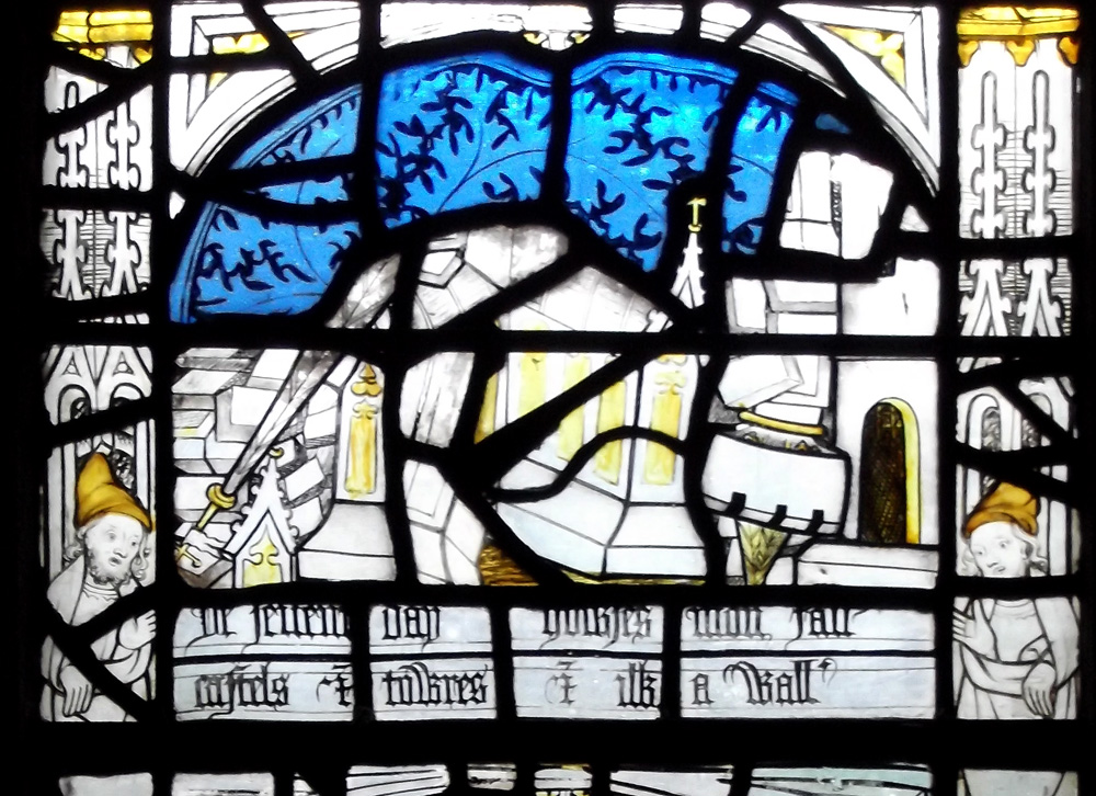 Apollo stained glass the pricke of conscience window all saints north street york