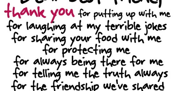 saying quotes dear best friend thank you for putting up me for