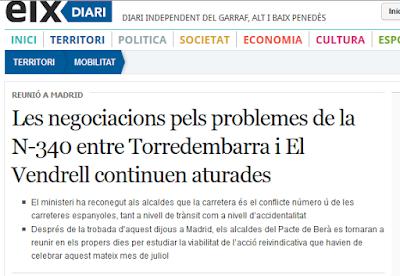http://www.eixdiari.cat/territori/doc/56763/les-negociacions-pels-problemes-de-la-n-340-entre-torredembarra-i-el-vendrell-continuen-aturades.html