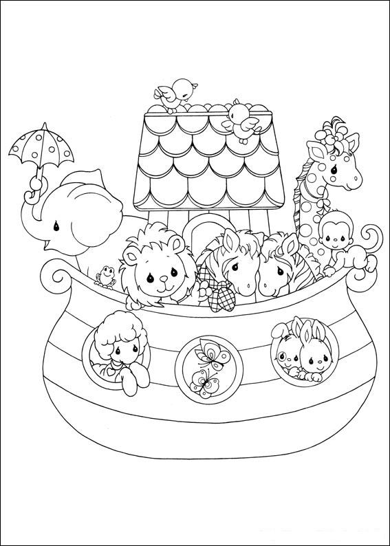 Noe 39 s Ark Coloring Precious Moments Child Coloring