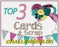 Ik was een top 3 bij Cards and Scrap