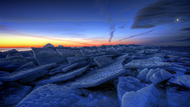 Ice Lakes Frozen Winter HD Wallpaper