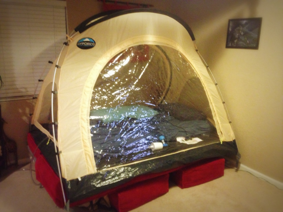 Yesterday I felt inclined to set-up my Hypoxico tent. Lastnight I slept deep and comfortable at about 11000u0027. I donu0027t intend to sleep in the tent every ... & Rise Over Run: Everyday Runner: Kaihogyo Update