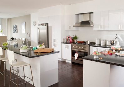Little cove design white kitchens to make you green with for Kitchen cabinets bunnings