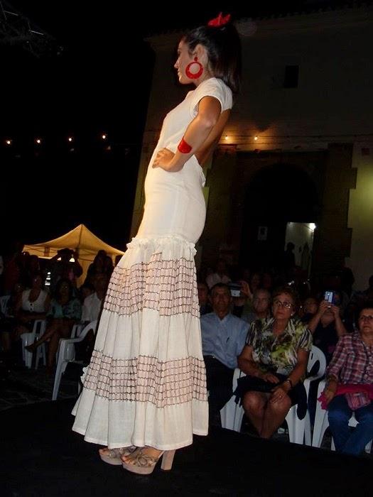 vestido flamenco blanco