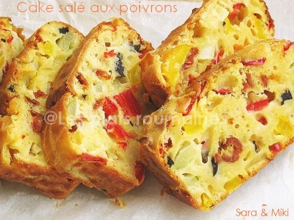 Cake Poivron Feta Jambon