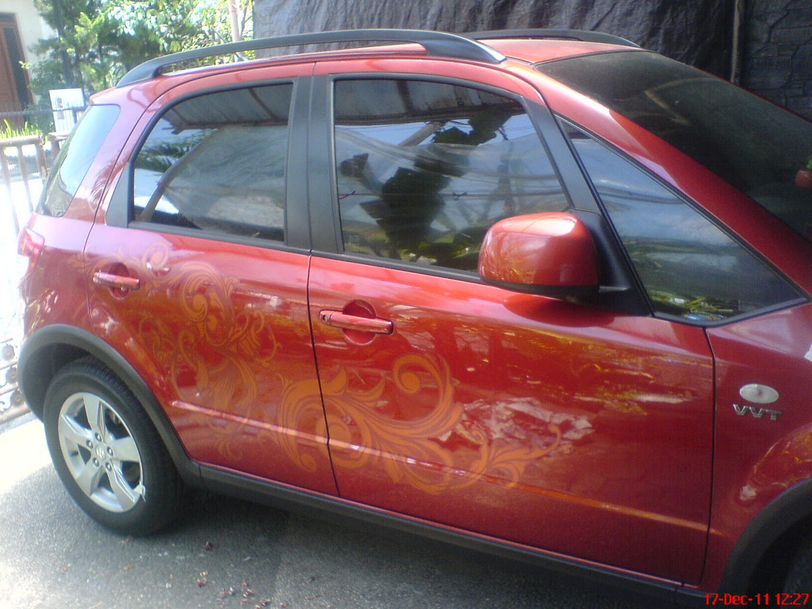 Airbrush Industries: Airbrush Mobil Suzuki SX4 motif batik Jambi