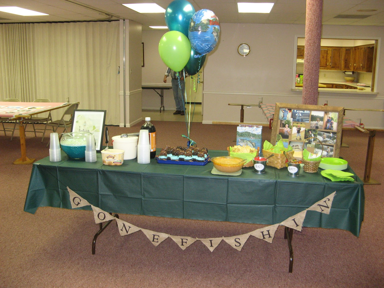 Chosen and loved forever a fishing themed birthday party for Fishing theme party ideas