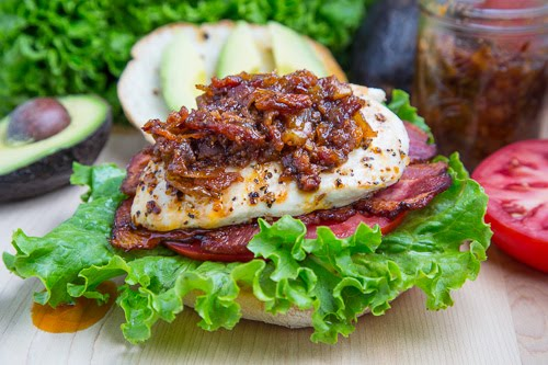 Bacon Jam Chicken Club Sandwich with Avocado and Chipotle Mayo on ...