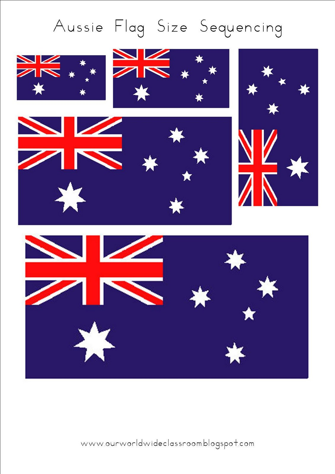 free printable australia day learning packet