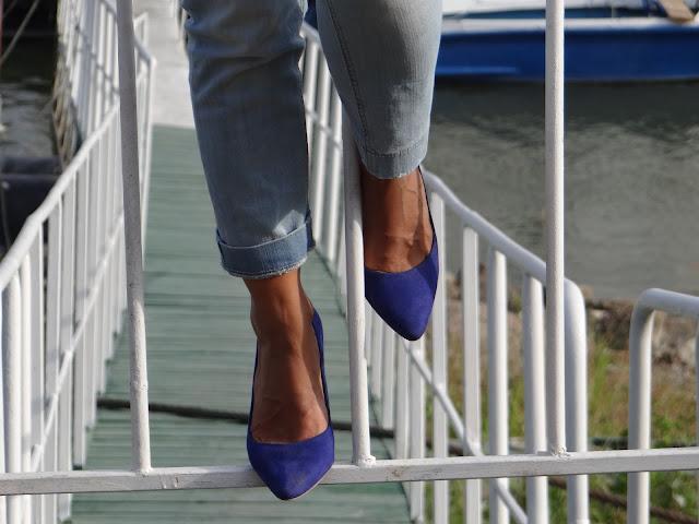 h&m blue shoes