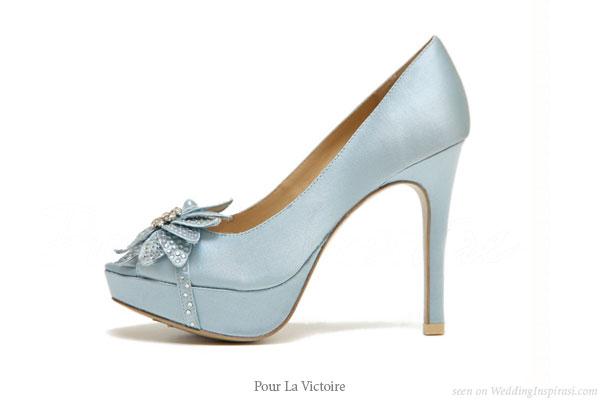 a wedding addict baby blue wedding shoes