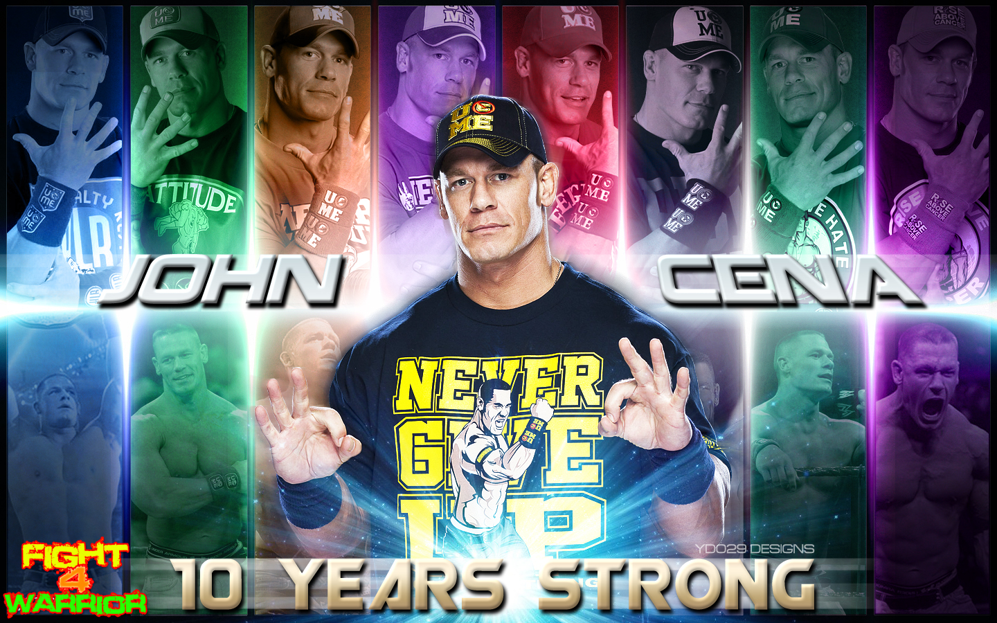 john cena 10 years strong wallpaper f4wwall