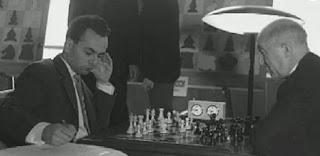 artida de ajedrez Lajos Portisch vs. Miguel Najdorf en el I Torneo Internacional de Ajedrez Costa del Sol 1961