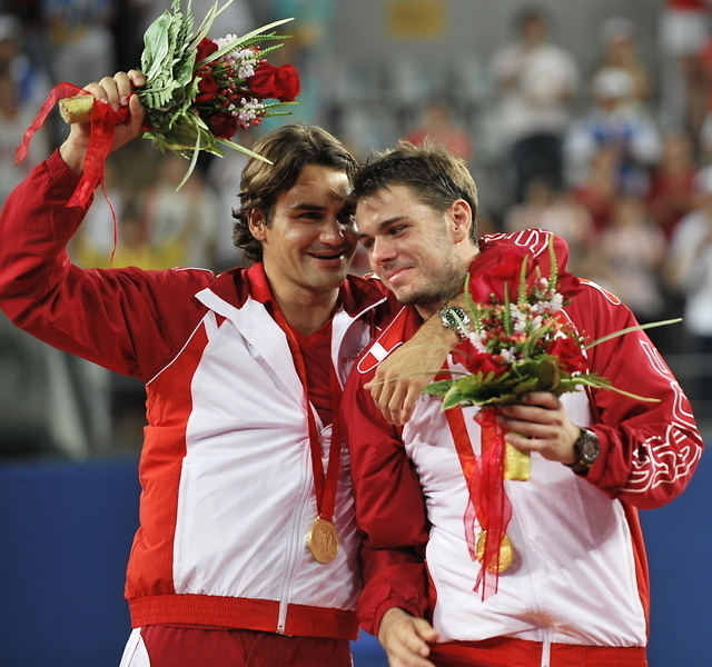 Roger Federer and Stanislas Wawrinka • Tennis Players