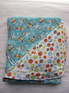 space monkeys baby blanket