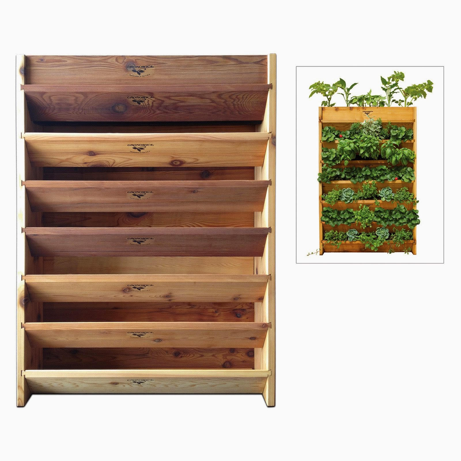 Diy Vintage Chic Diy Vertical Herb Garden Part 1