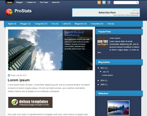 ProStats Blogger Theme