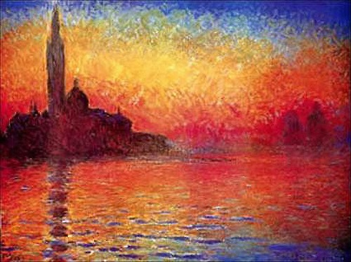 Art history final twilight venice by claude monet for Claude monet impressionist paintings