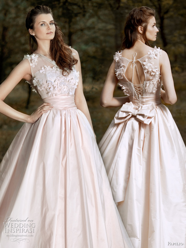 a wedding addict light pink wedding dress in modest style