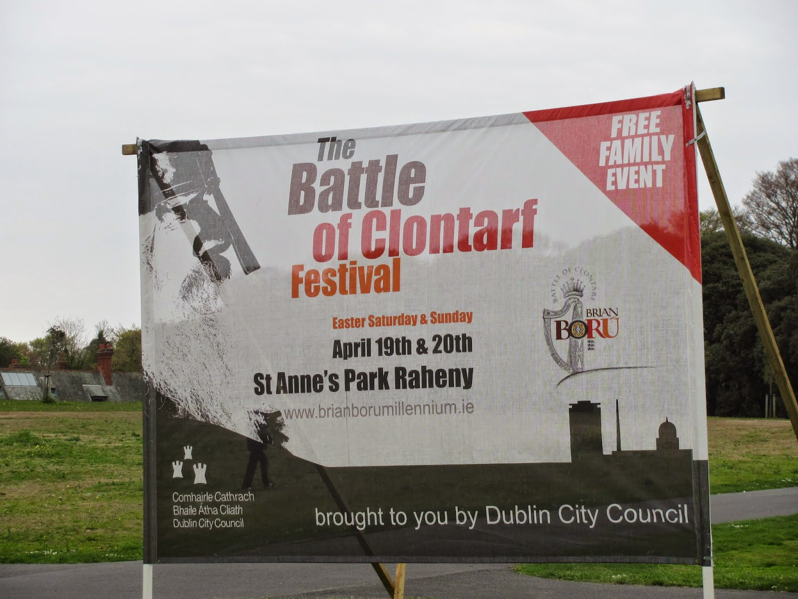 Battle of Clontarf Festival Welcome Sign Dublin 2014