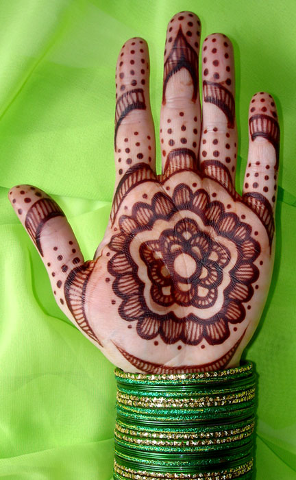 Henna designs are very popular everywhere in the world