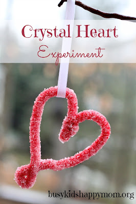 Crystal Heart Experiment - heart science activities for kids {Weekend Links} from HowToHomeschoolMyChild.com