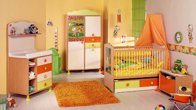 cilek turuncu mobilyali Bebek odasi takimi cesitleri En Güzel Bebek Odası Takımları Ve Resimleri