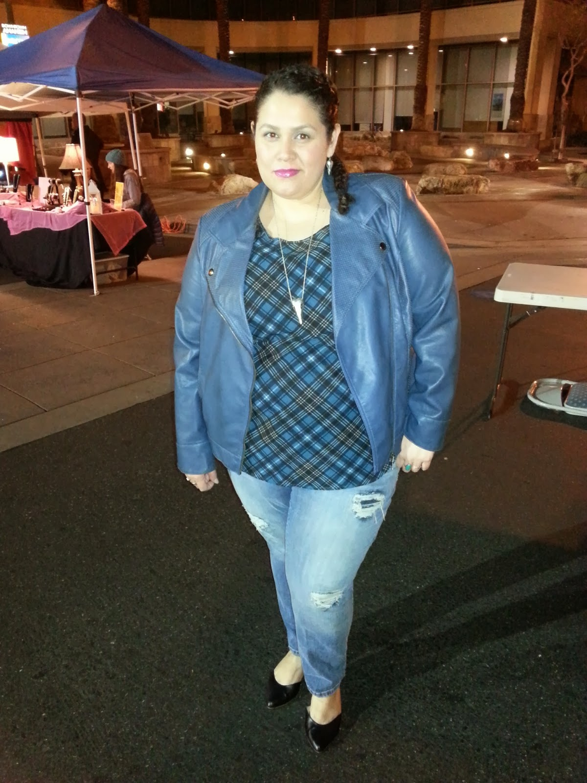 INC, Macy's, moto jacket, jessica simpson, distressed jeans, plus size fashion, fashion blogger, Latina style blogger, dolce vita shoes