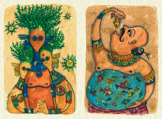 Debut Solo Exhibition of Dhimant Vyas at Hirji Jehangir, Mumbai