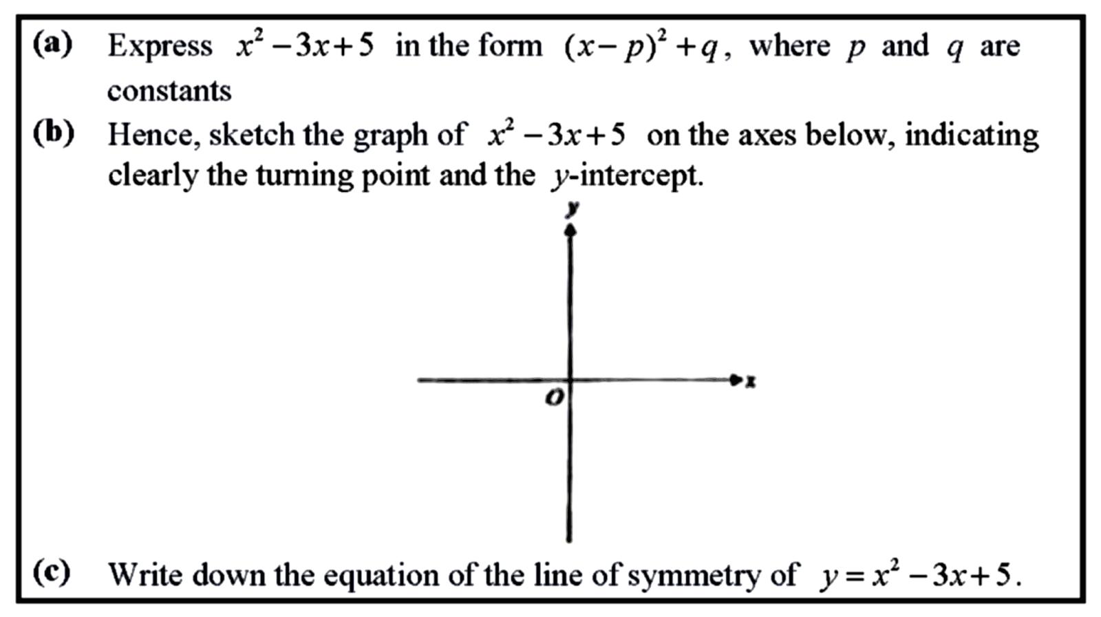 Truly singaporean singapore mathematics em20151120qgxs quadratic em20151120qgxs quadratic graphs by completing the square falaconquin