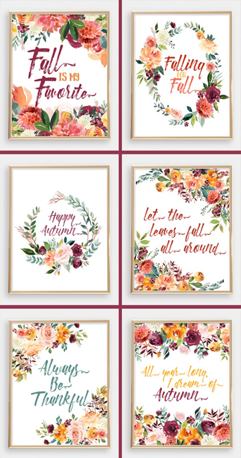 My 2017 Fall Printable Bundle is in the shop NOW!