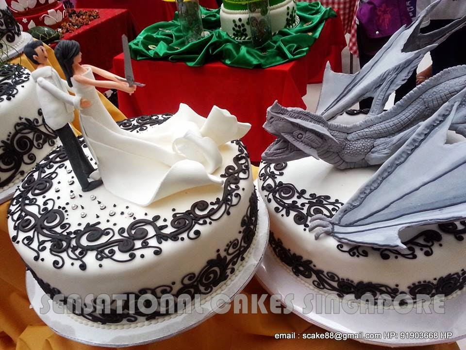 The Sensational Cakes DRAGON KNIGHT WEDDING CAKE CUSTOMER