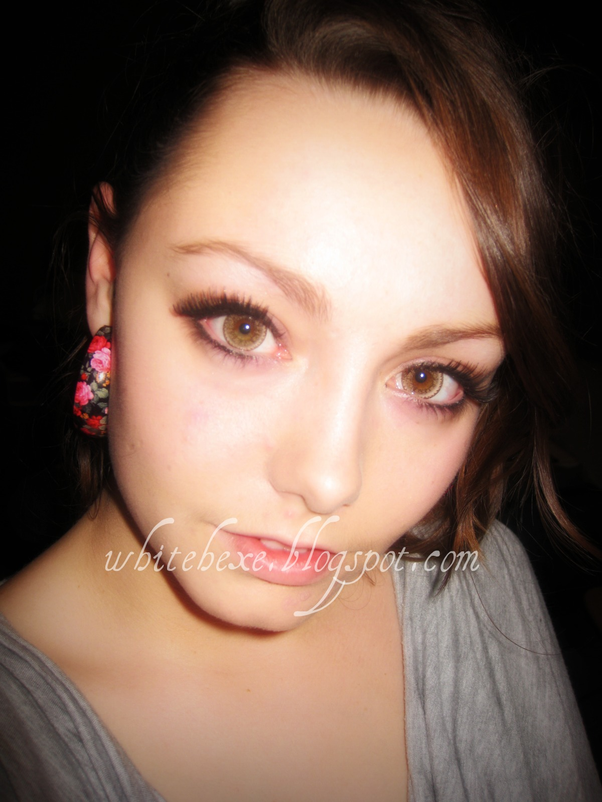 Gemstone green contacts on brown eyes on eye contact lenses freshlook colorblends blue