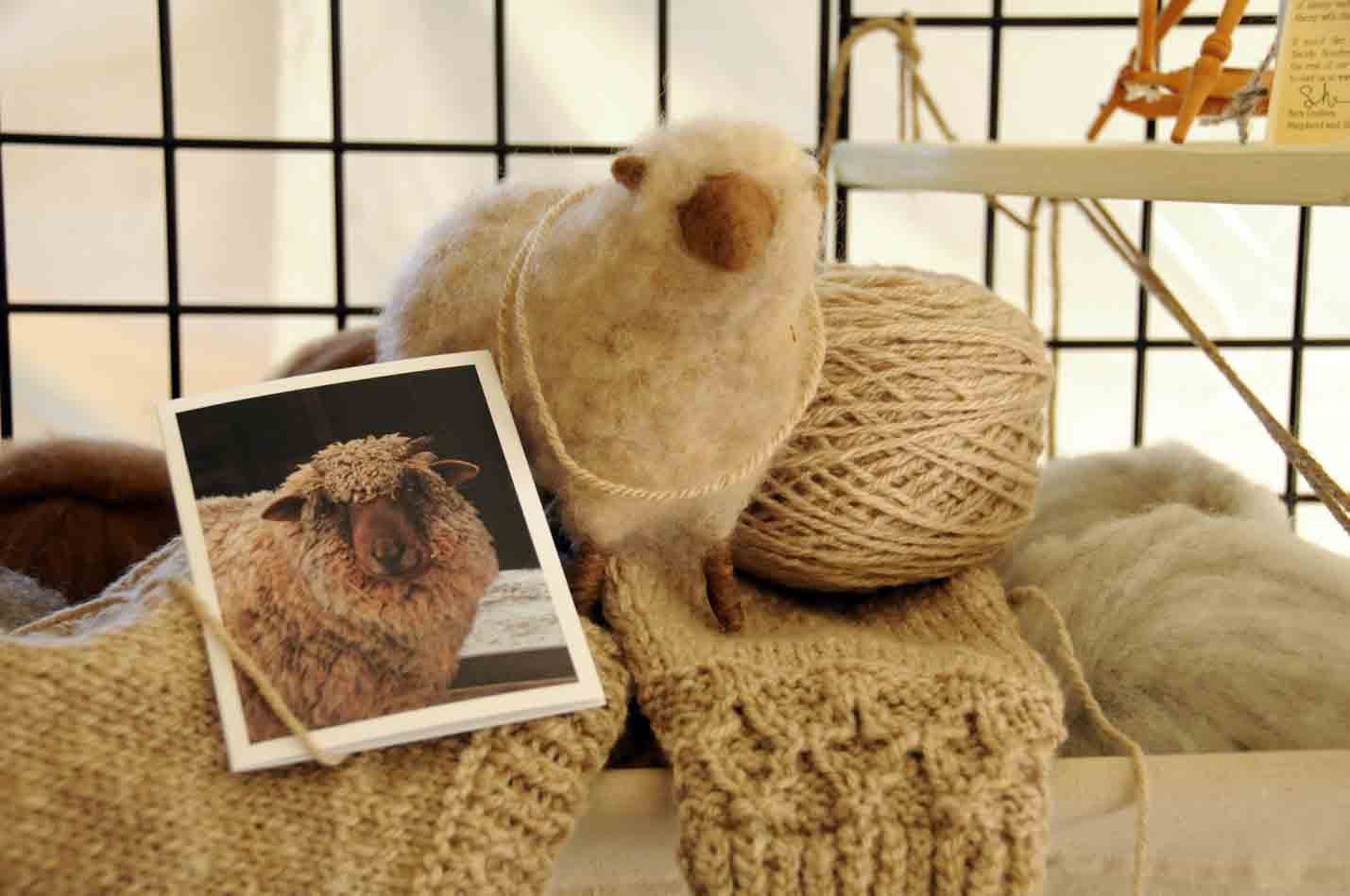 For A Fun Photo Op We Pulled Out One Of The Petunia Cards And Felted Sheep