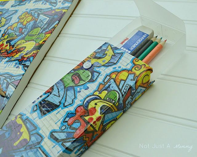 Back To School Crafting with Duck Tape pencil case