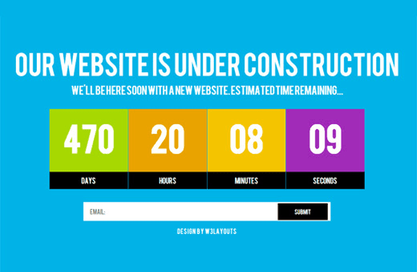 Under Construction Mobile Website Template