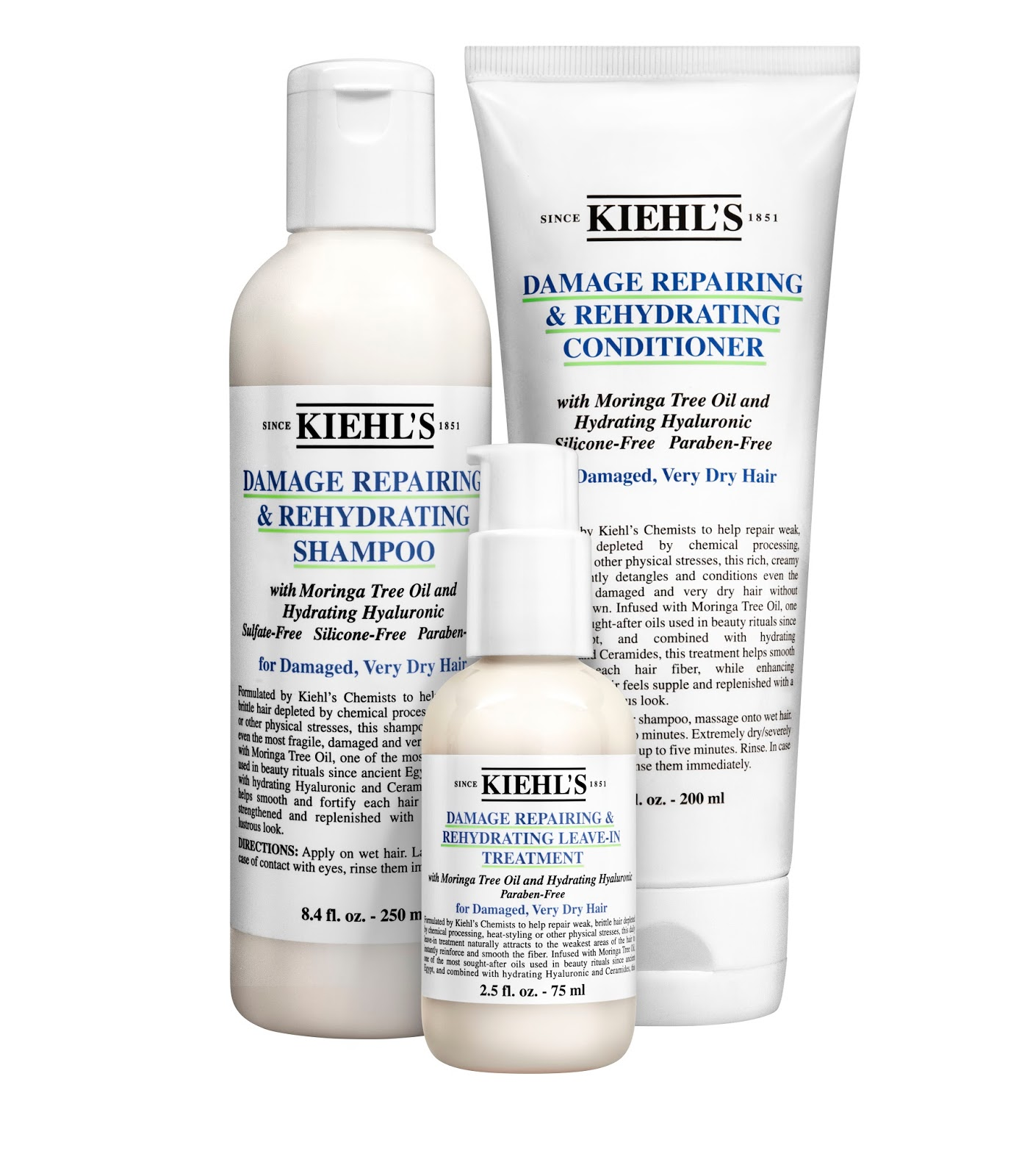 Preview: Kiehl's Damage Repairing & Rehydrating Haircare