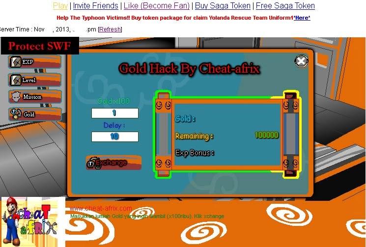 Cheat ATM Exp Ninja Saga November 2013 - cheat-afrix: Free Cheat Game ...