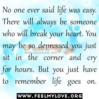 No one ever said life was easy