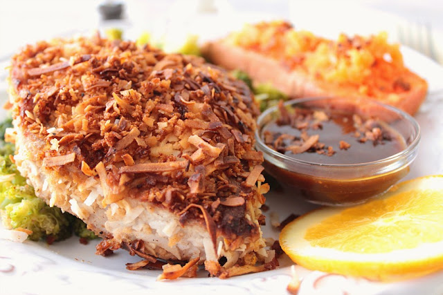 Coconut Crusted Tuna Steak