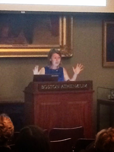 Abigail Carrol at the Boston Athenaeum with Mass Oyster Project