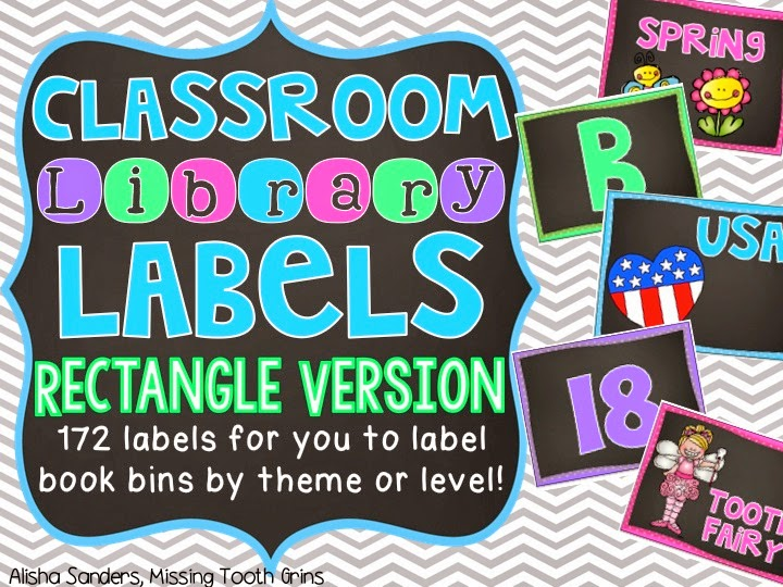 http://www.teacherspayteachers.com/Product/Classroom-Library-Labels-Rectangle-Chalkboard-1348802