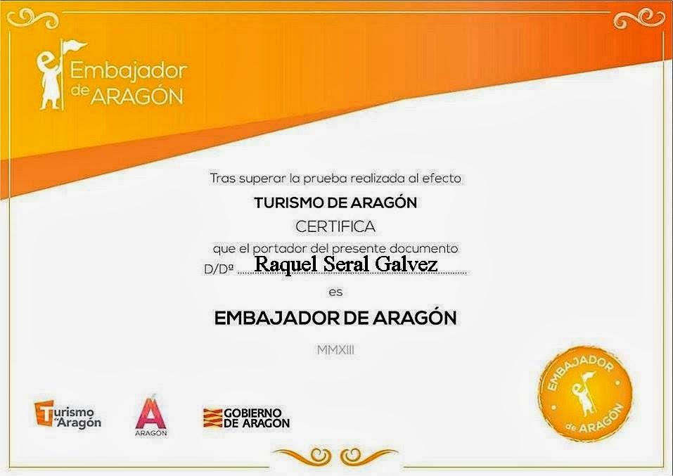 EMBAJADORA GASTRONÓMICA DE ARAGÓN